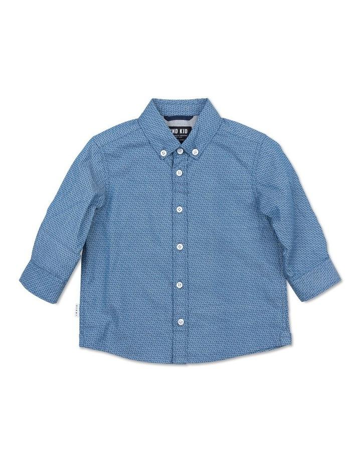 Geo Blue LS Shirt image 1