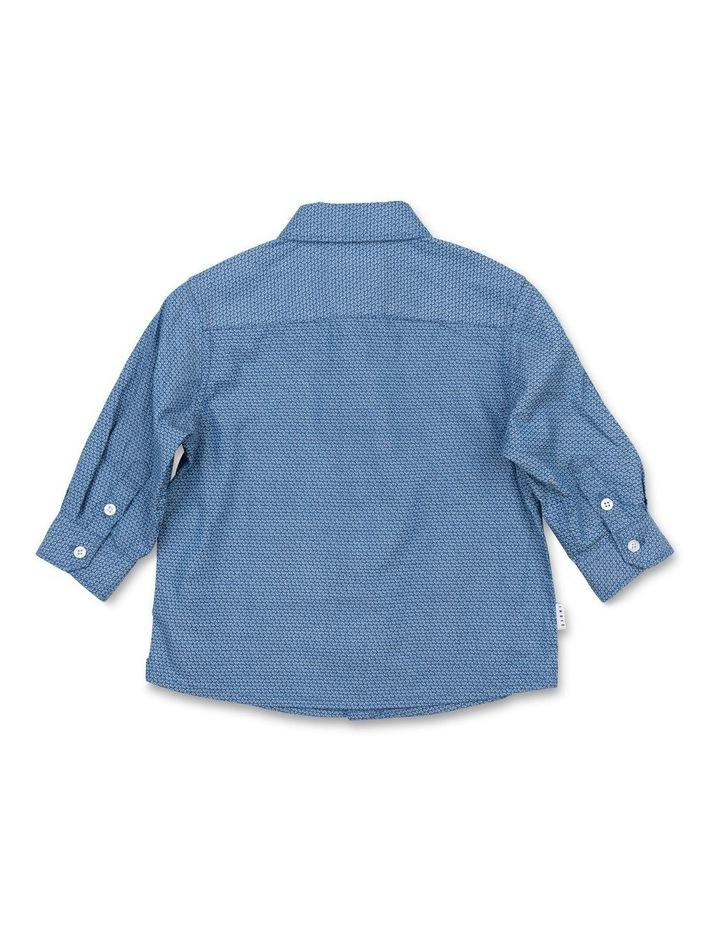 Geo Blue LS Shirt image 2