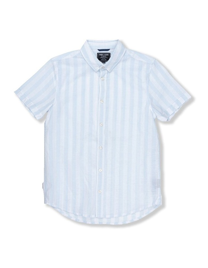 Linen Stripe Short Sleeve Shirt image 1