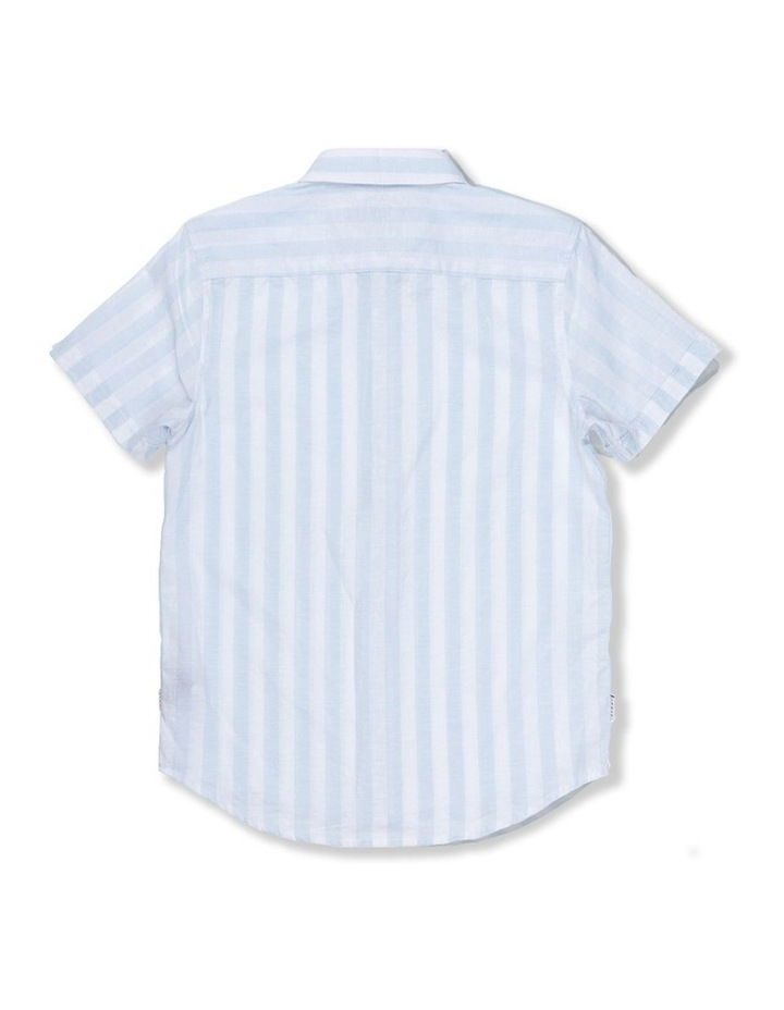 Linen Stripe Short Sleeve Shirt image 2