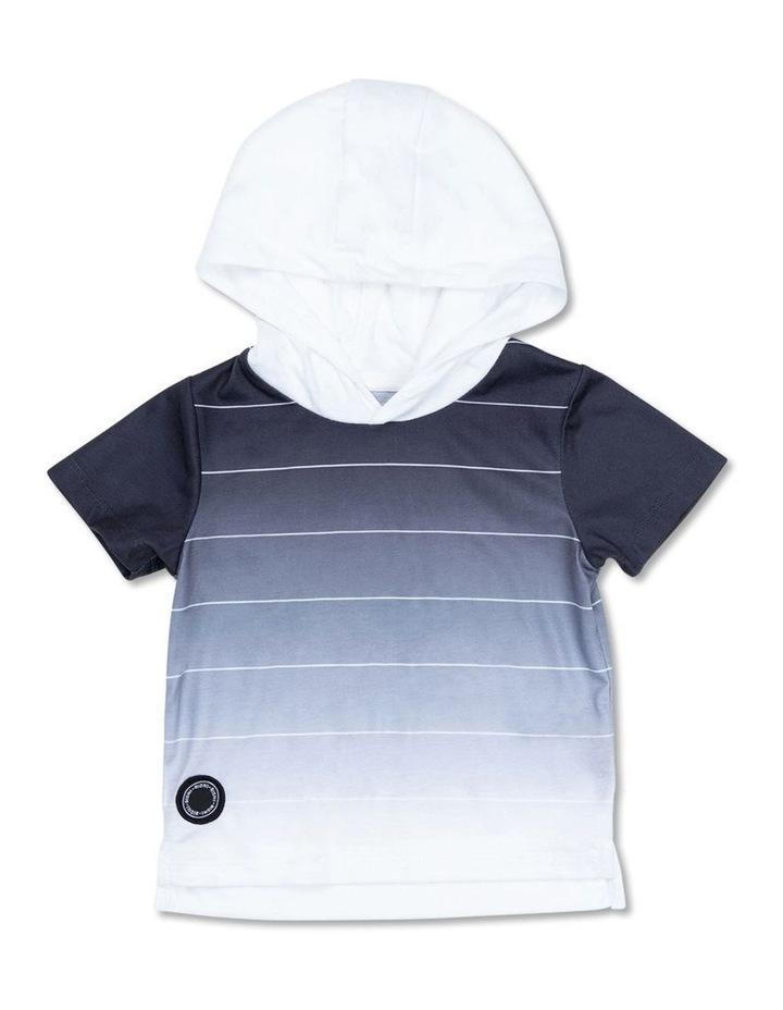 Fade Stripe SS Hoodie image 1