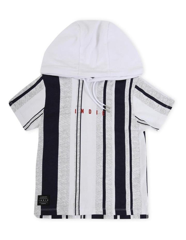 Vertical Short Sleeve Hoodie image 1