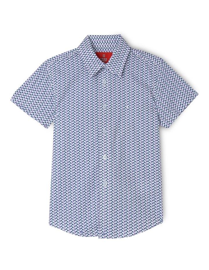 White Ground Mauve Spot Short Sleeve Shirt image 1