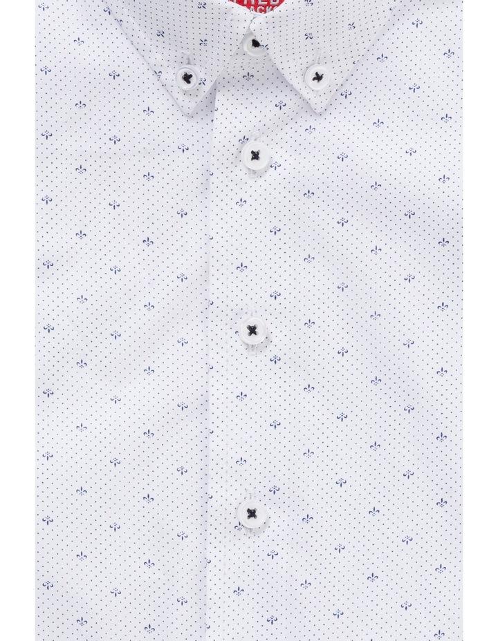 White Ground Navy Print LS Shirt image 2