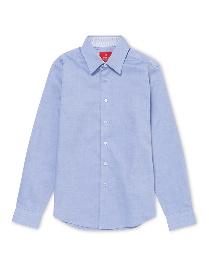Shirt Youth Blue Long Sleeve Oxford FLSYM153D_BCSB image 1