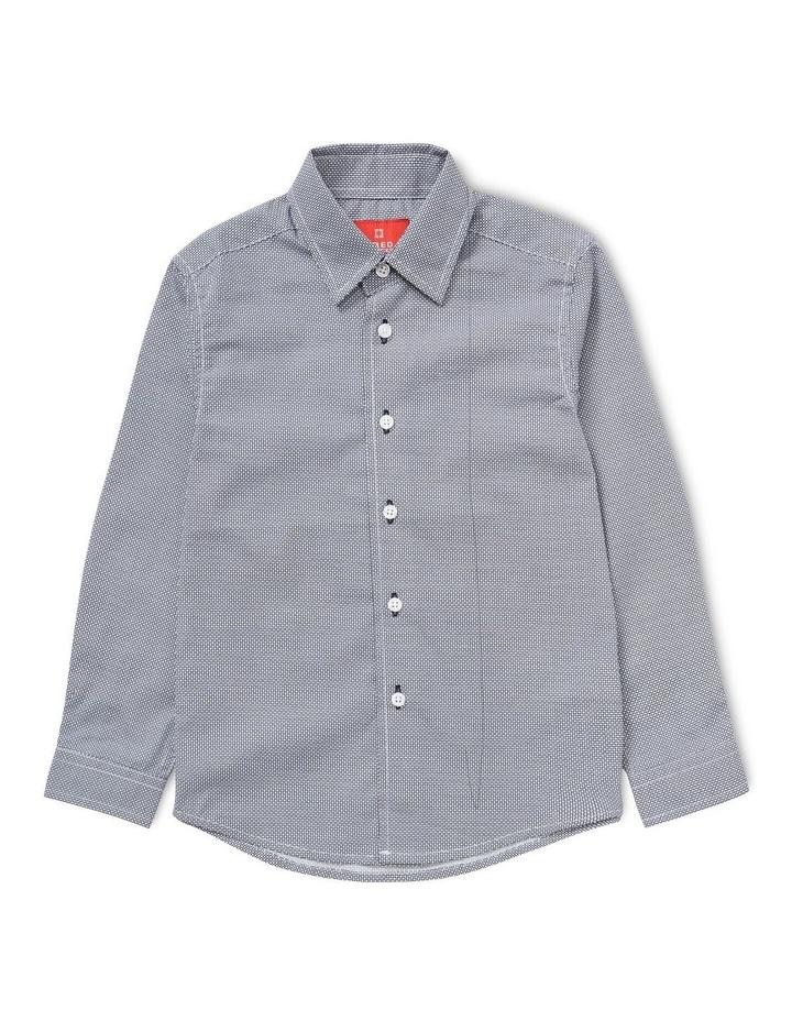Youth Textured Navy Long Sleeve Shirt image 1