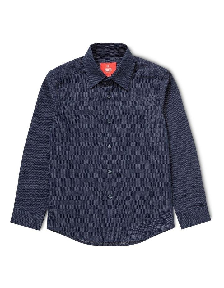 Youth Navy Long Sleeve Shirt image 1