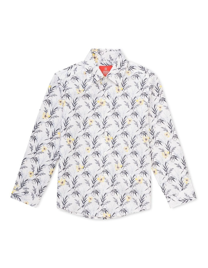 Youth Shirt Indigo Yellow Floral image 1