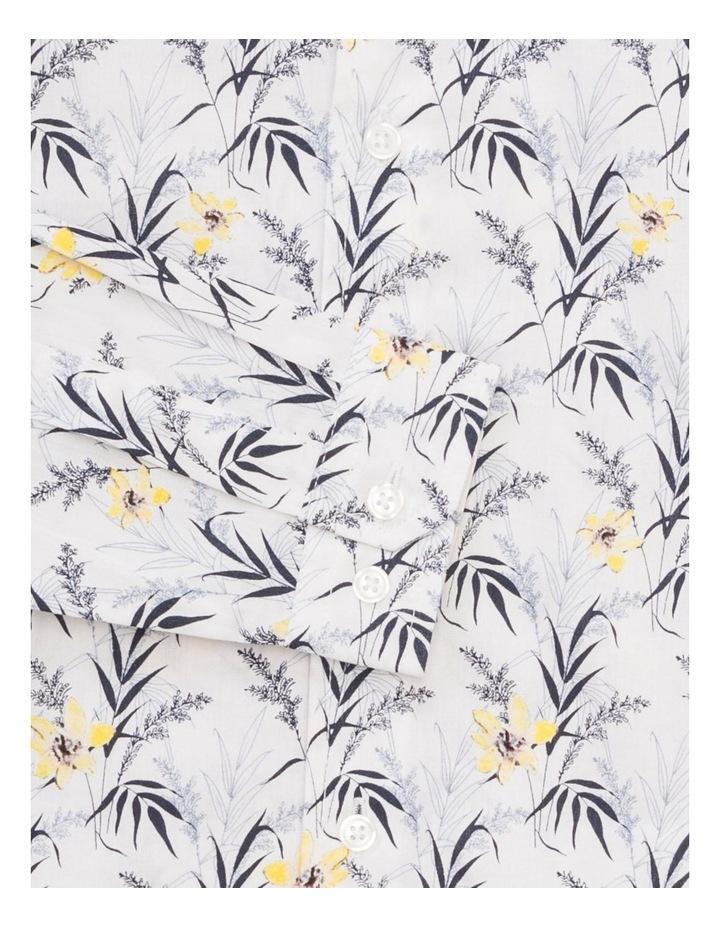 Youth Shirt Indigo Yellow Floral image 2