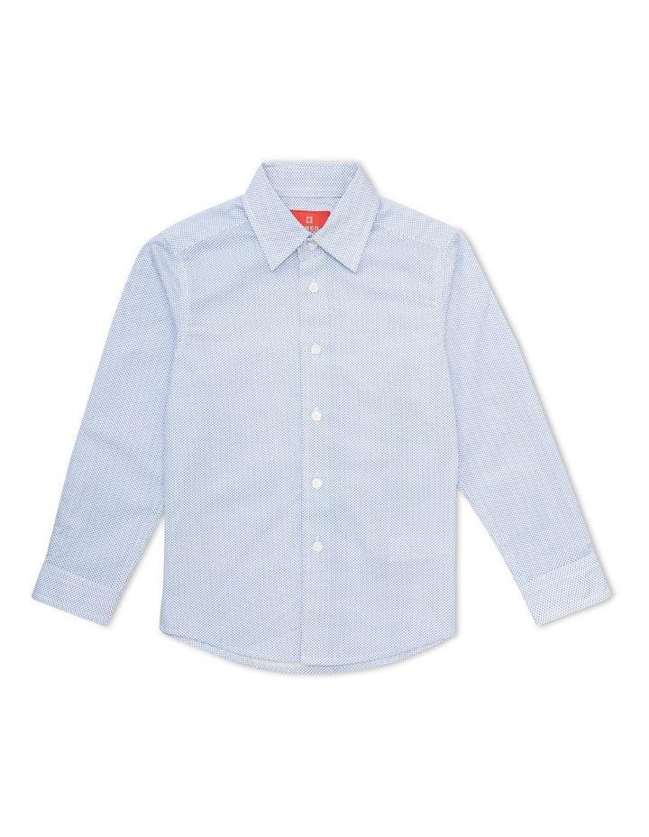 Junior Shirt White All Over Navy Print image 1