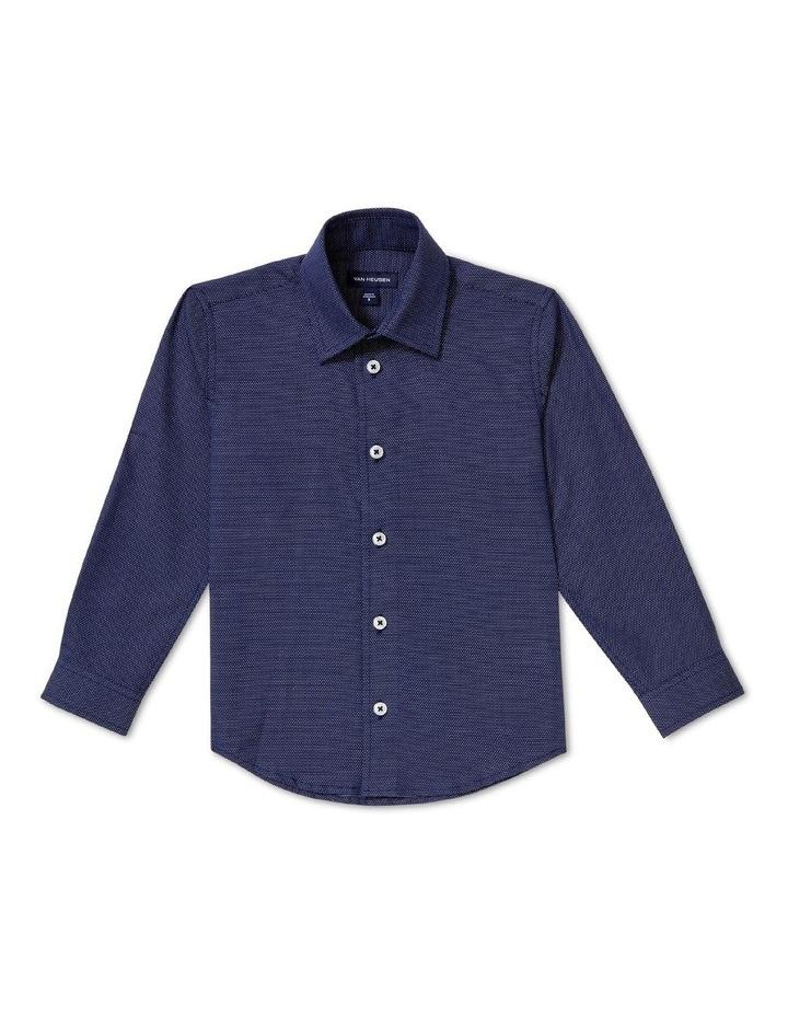 Youth Shirt Dobby Navy image 1