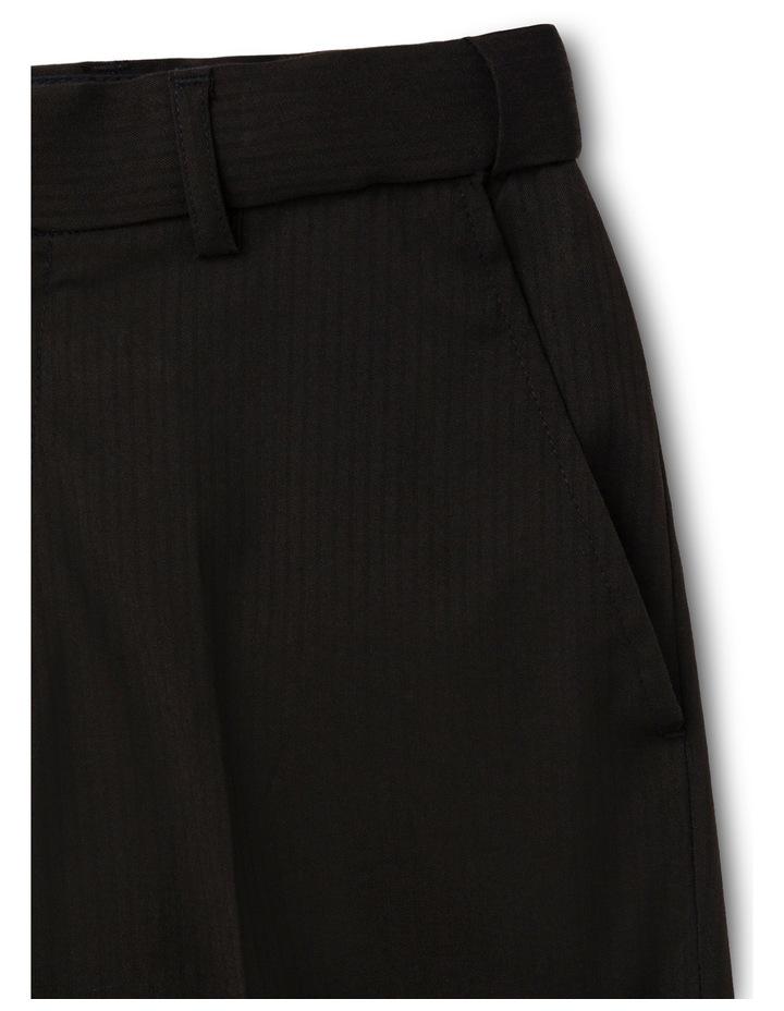 Black Tonal Stripe Pant image 2