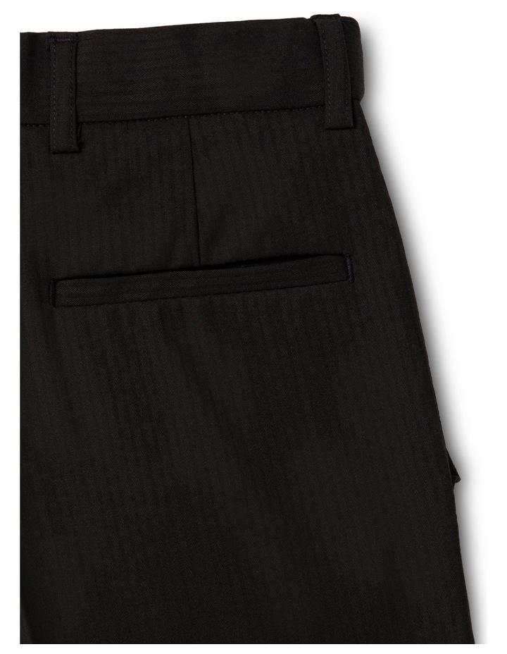 Black Tonal Stripe Pant image 3