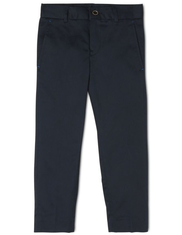 Boys Navy Textured Pants image 1