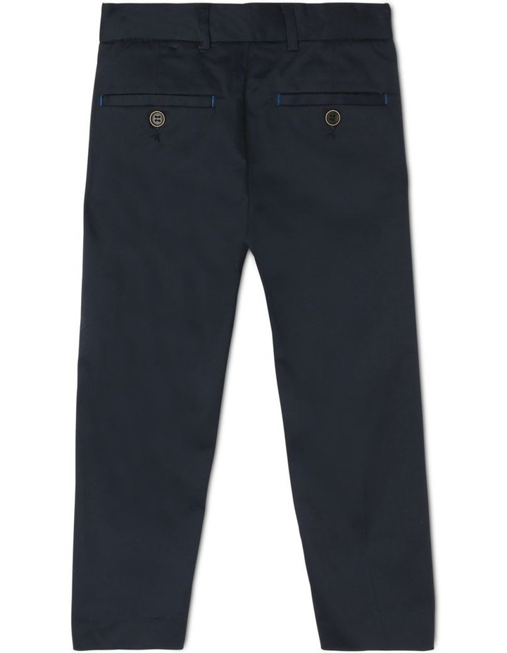 Boys Navy Textured Pants image 2