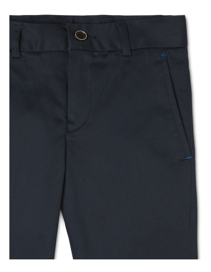 Boys Navy Textured Pants image 3