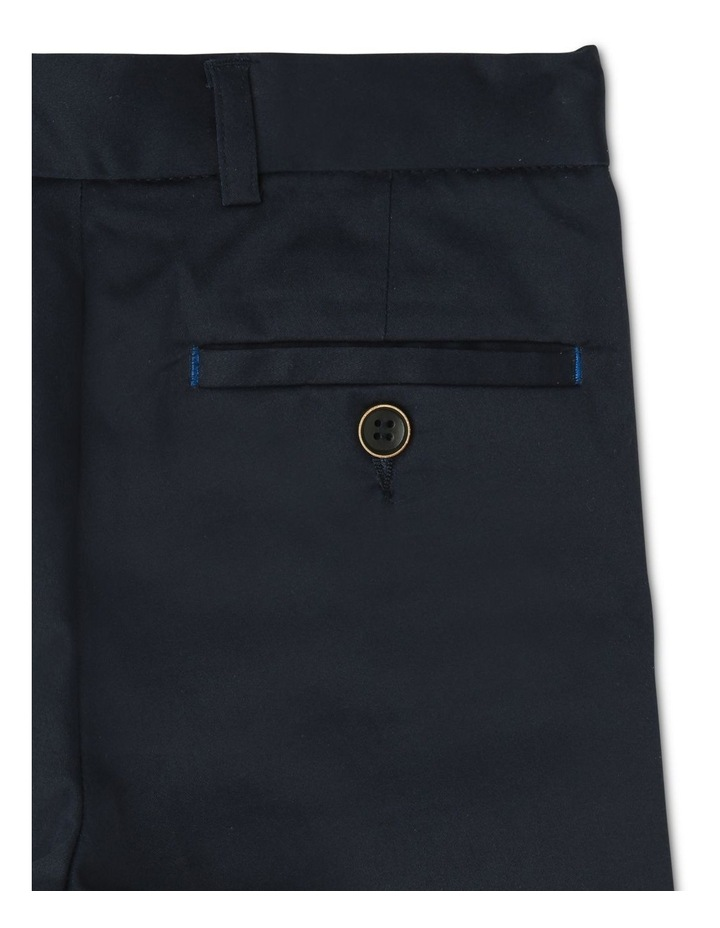 Boys Navy Textured Pants image 4