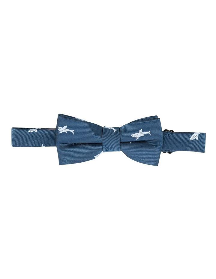 Navy Shark Print Bow Tie image 1