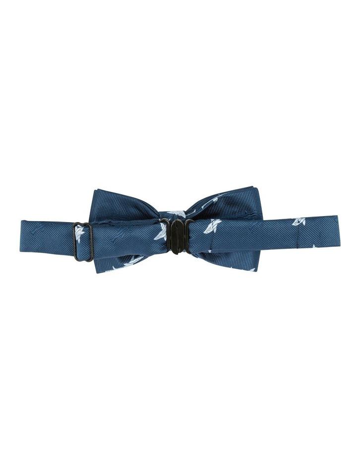 Navy Shark Print Bow Tie image 2