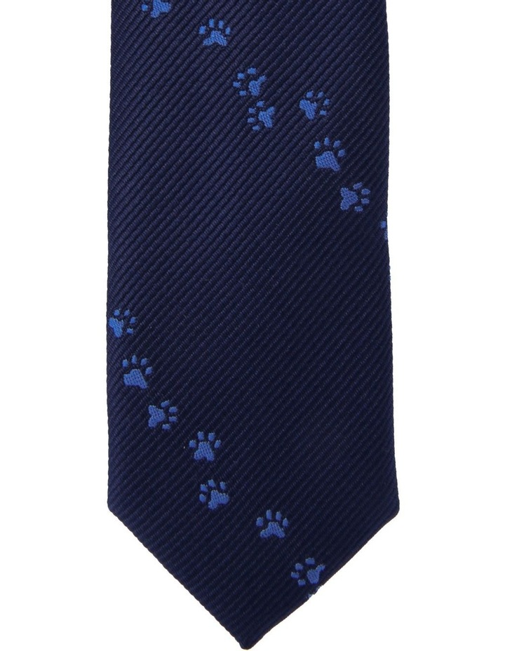 Junior Tie Blue Paw Print image 2