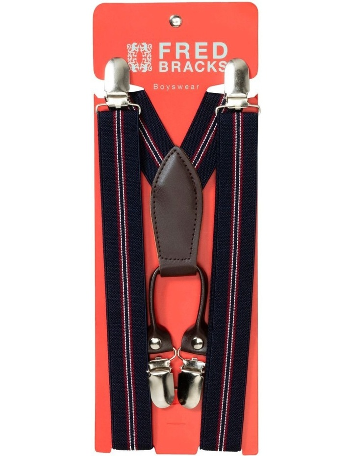 Navy And Red Stripe Braces Youth image 1