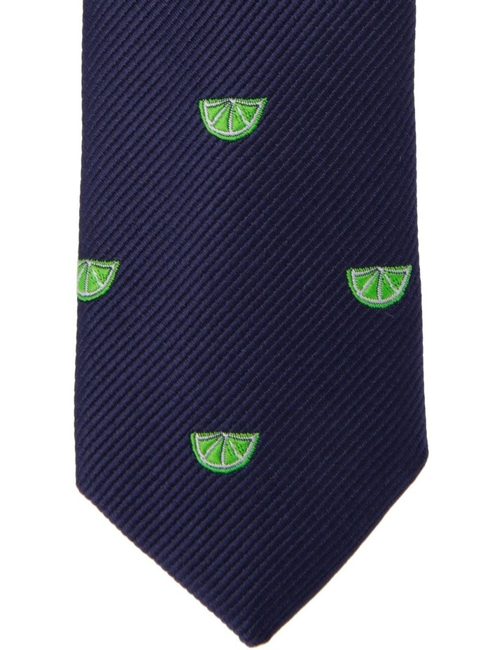 Youth Neck Tie Navy Lime Print image 2