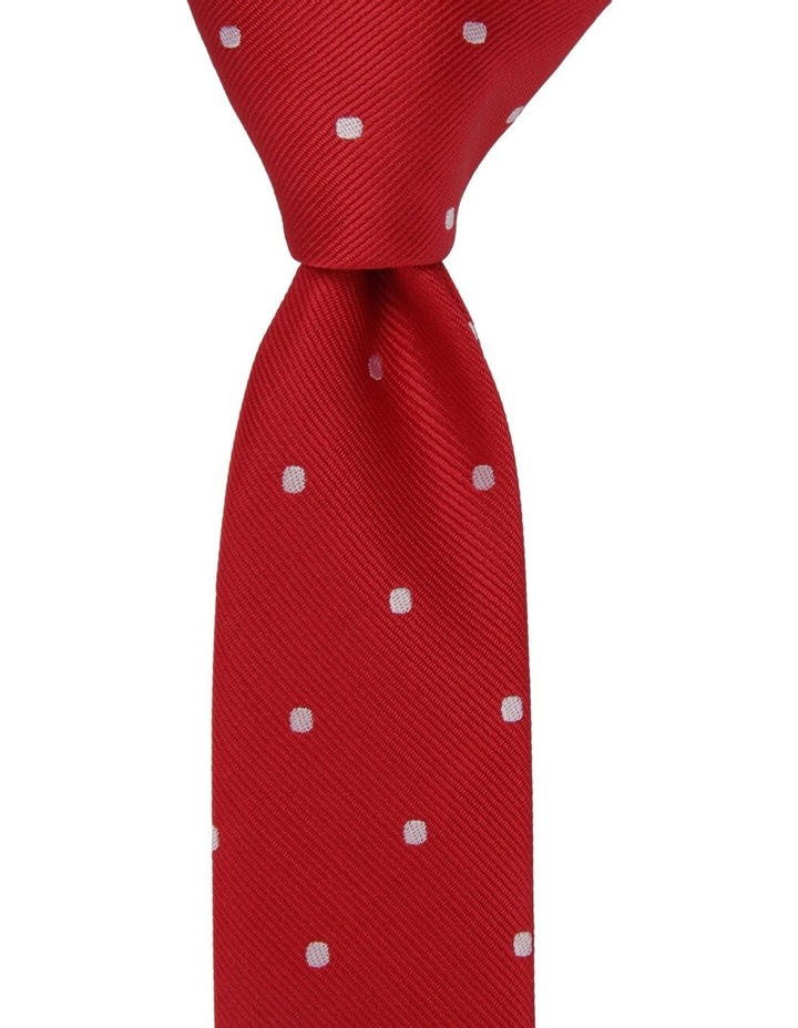 Youth Neck Tie Red Dots image 1