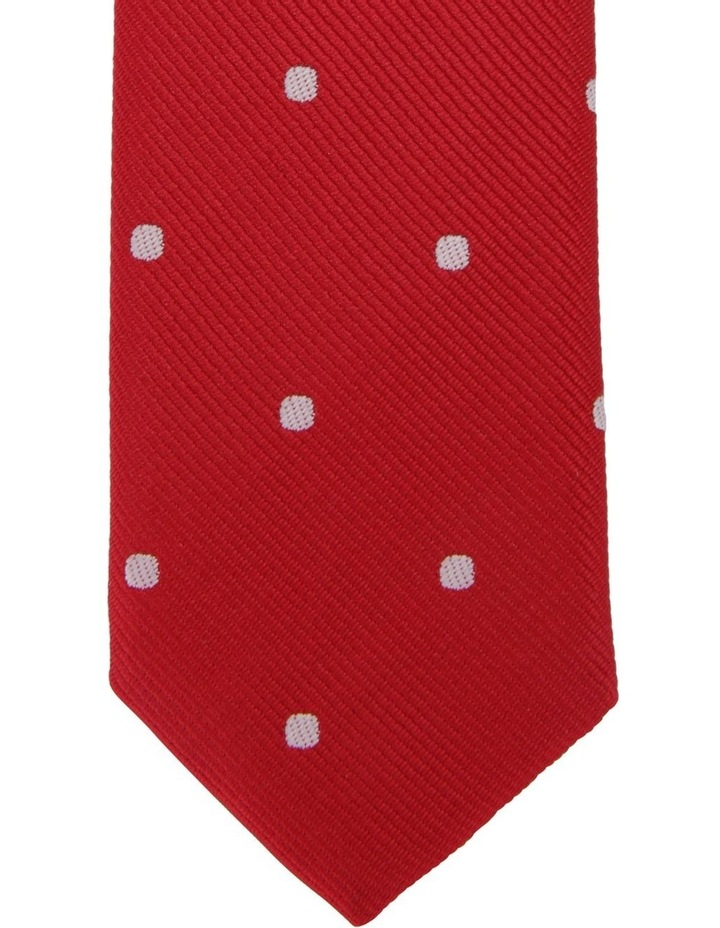Youth Neck Tie Red Dots image 2