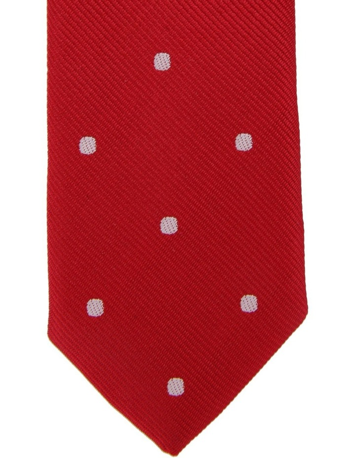 Junior Neck Tie Red White Dots image 2