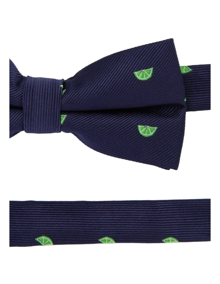 Youth Bow Tie Navy Lime Print image 2