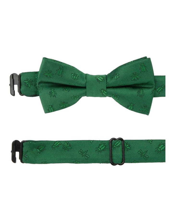 Junior Bow Tie Green Bug Print image 1