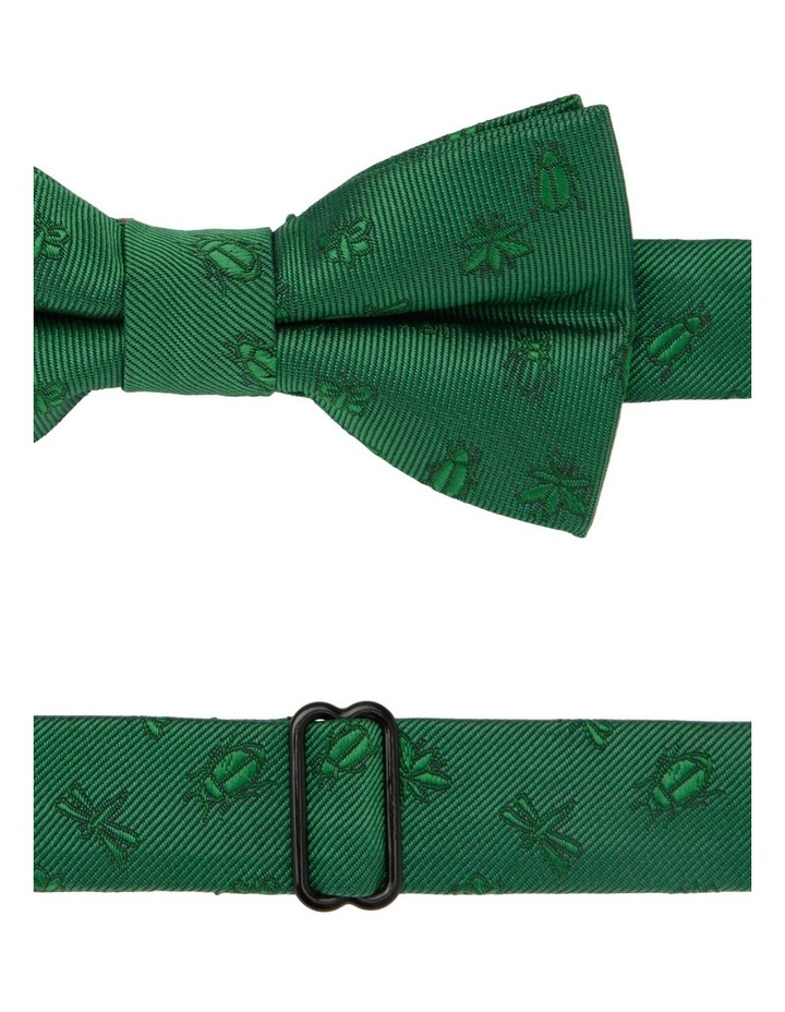 Junior Bow Tie Green Bug Print image 2