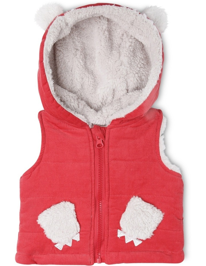 Buddy Woven Cord Hooded Vest With Teddy Fleece Lining image 1