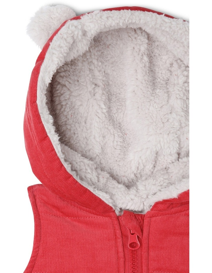 Buddy Woven Cord Hooded Vest With Teddy Fleece Lining image 2