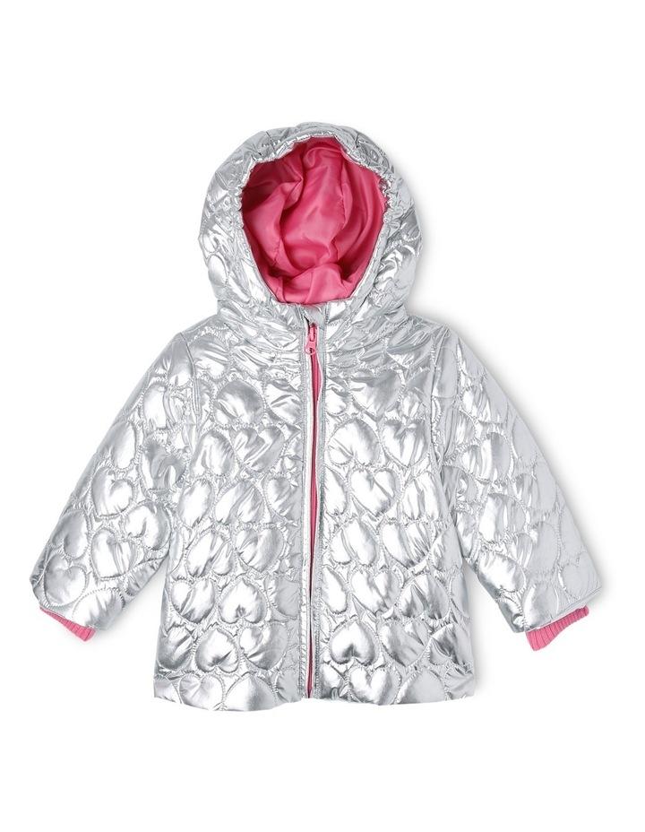 Skye Hooded Silver Puffer Jacket image 1