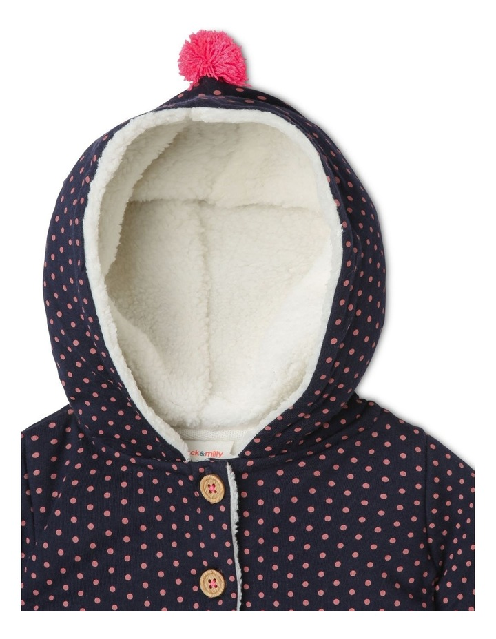 Mabel Knit Teddy Fleece Lined Jacket With Bunny Pockets image 3