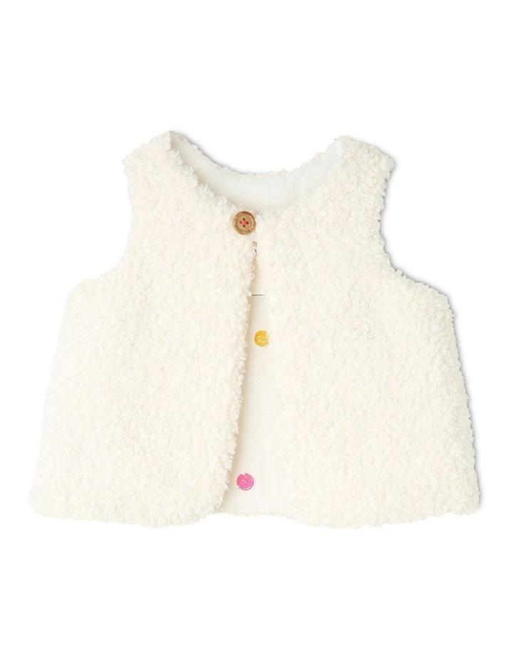 Frankie Teddy Fleece Vest With Spot Lining image 1