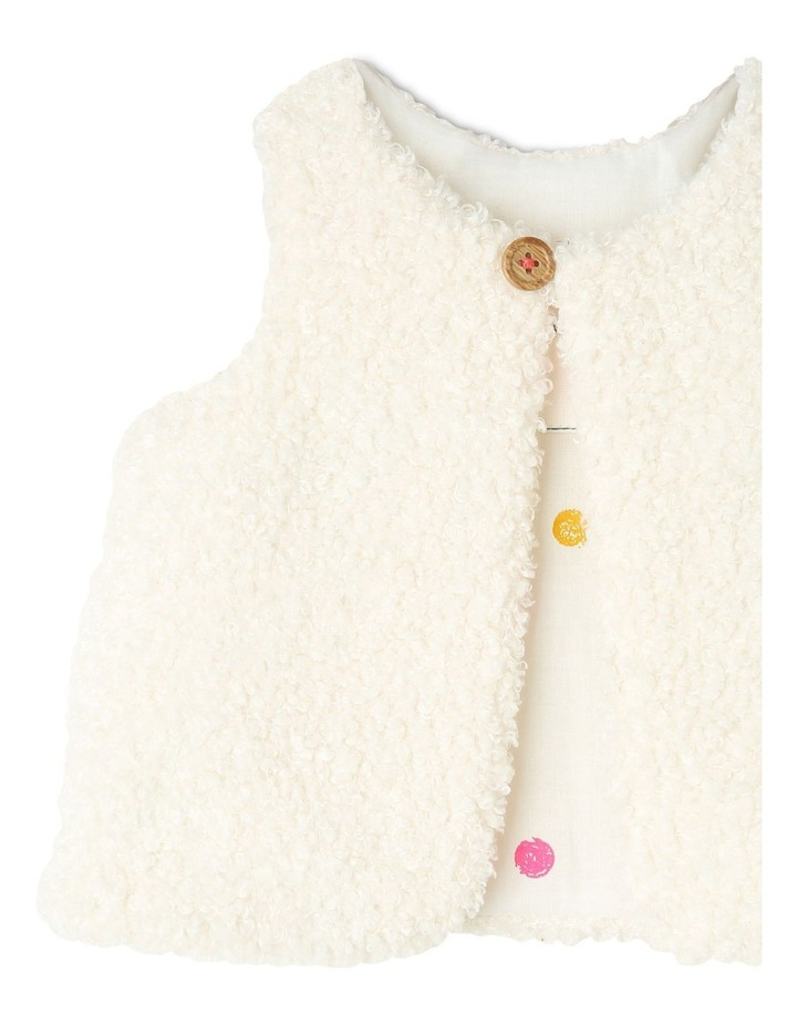Frankie Teddy Fleece Vest With Spot Lining image 2