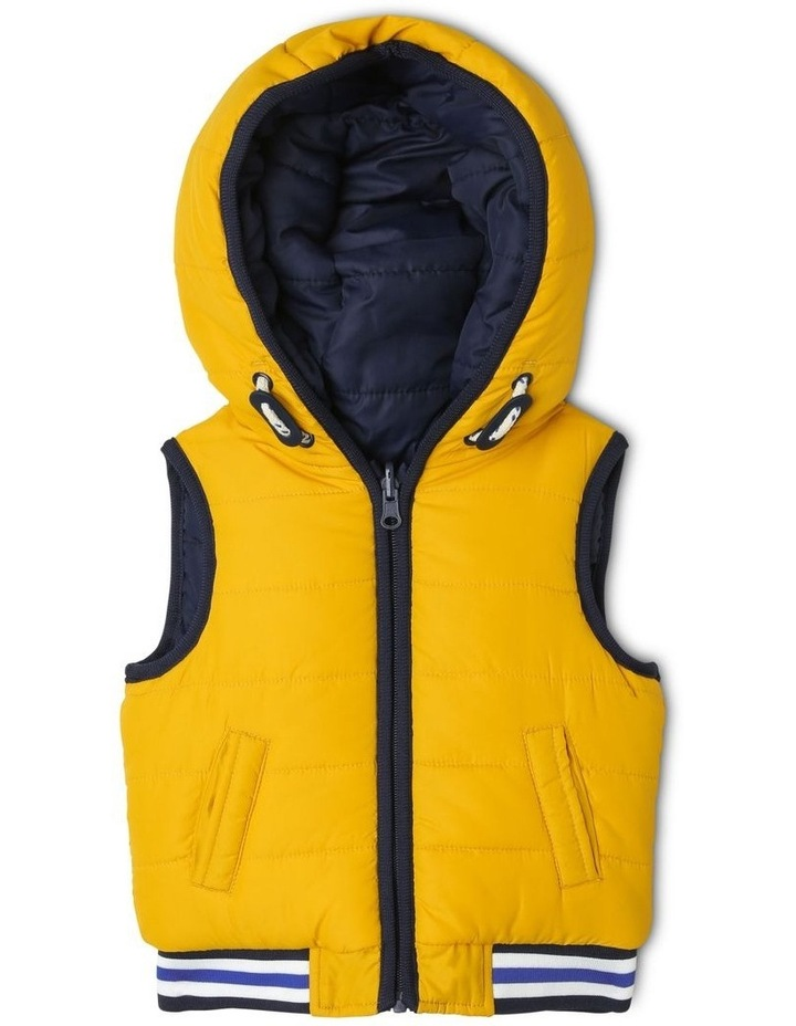 Cass Reversible Puffer Vest With Rib Bands image 1
