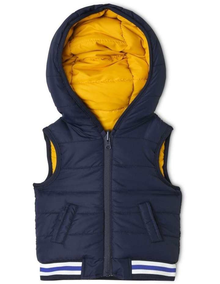 Cass Reversible Puffer Vest With Rib Bands image 2
