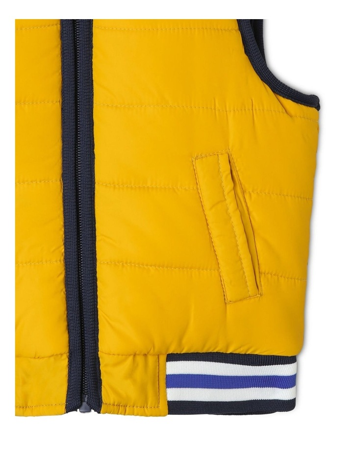 Cass Reversible Puffer Vest With Rib Bands image 4
