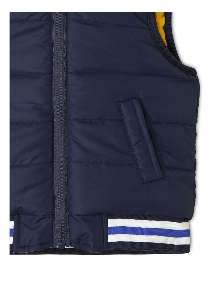 Cass Reversible Puffer Vest With Rib Bands image 5