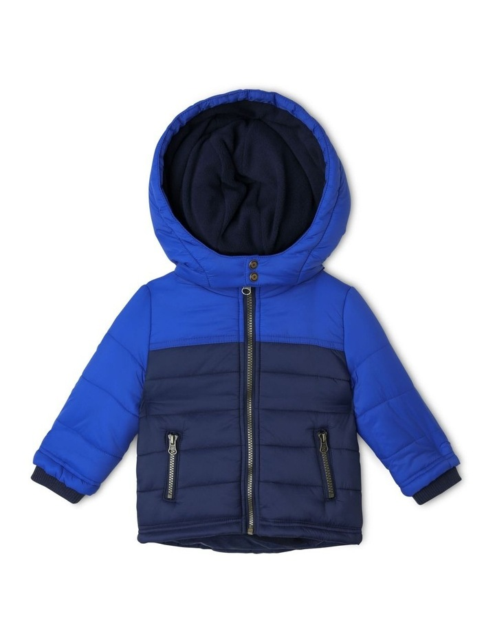 Ethan Spliced Puffer Jacket With Fleece Lining image 1