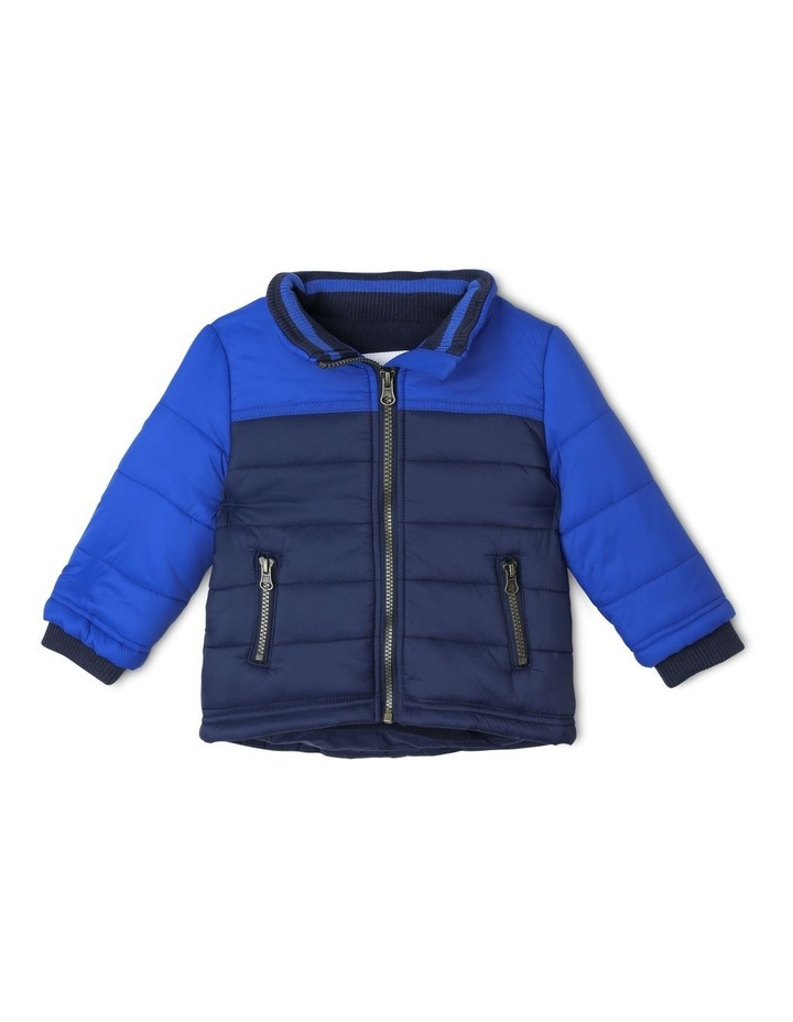 Ethan Spliced Puffer Jacket With Fleece Lining image 2