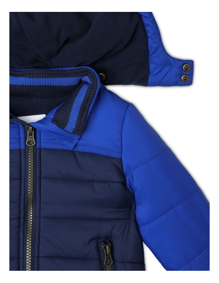 Ethan Spliced Puffer Jacket With Fleece Lining image 3