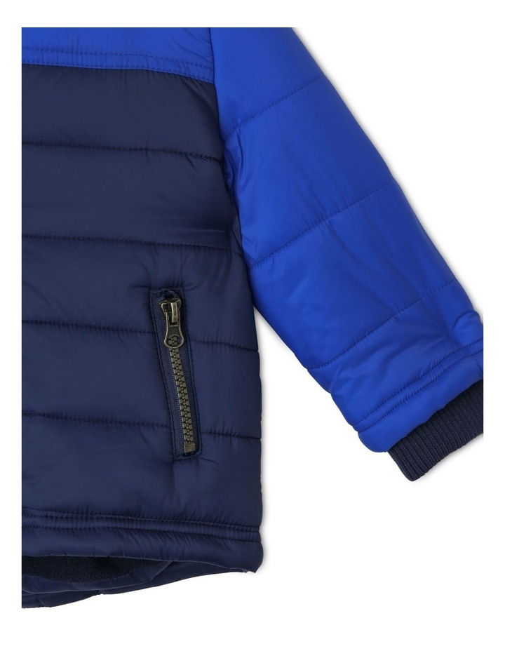 Ethan Spliced Puffer Jacket With Fleece Lining image 4