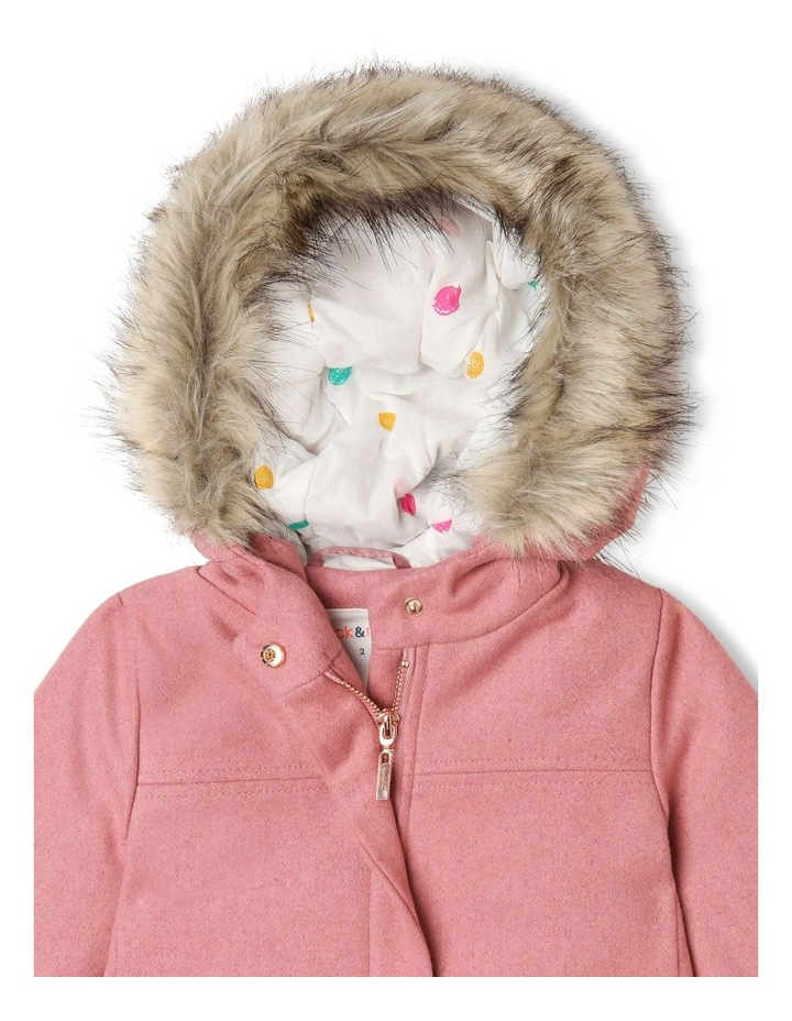 Charlotte Melton Jacket with Fur Hood Trim image 2