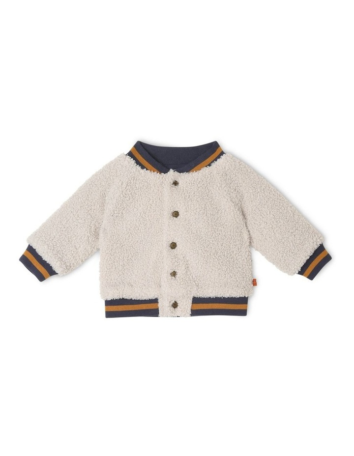 Sonny Teddy Fleece Knitted Bomber Jacket image 1