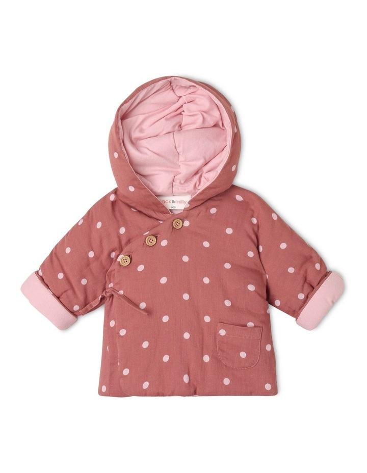 Asymmetrical Hooded Jacket with Spot Yardage image 1