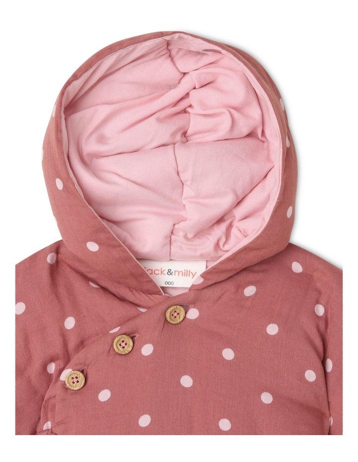 Asymmetrical Hooded Jacket with Spot Yardage image 4